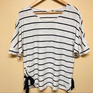 Everleigh striped side tie top